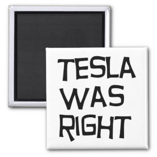 Tesla was right 2 inch square magnet