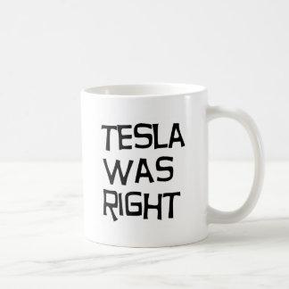 Tesla was right classic white coffee mug