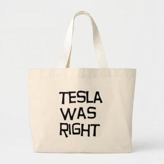 Tesla was right jumbo tote bag