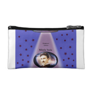 Tesla Zippered Pouch Cosmetic Bag