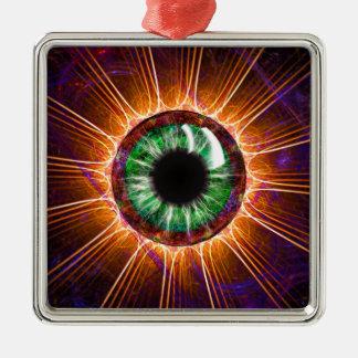 Tesla's Other Eye Fractal Art Metal Ornament
