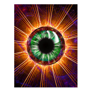 Tesla's Other Eye Fractal Art Postcard