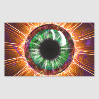 Tesla's Other Eye Fractal Art Rectangle Stickers