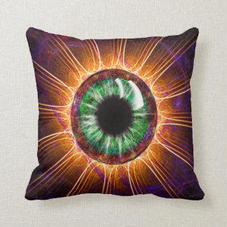 """""""Tesla's Other Eye"""" Throw Pillow"""