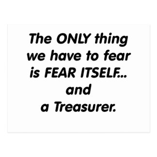 Tesorero del miedo tarjeta postal