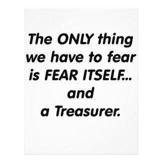 Tesorero del miedo tarjetas publicitarias