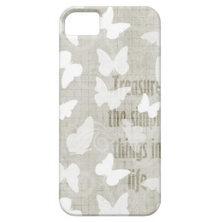Tesoro blanco de las mariposas iPhone 5 fundas