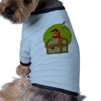 Tesoro de la cerveza inglesa y del pirata camiseta con mangas para perro