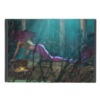 Tesoro de oro de la fantasía de la sirena bajo la  iPad mini fundas