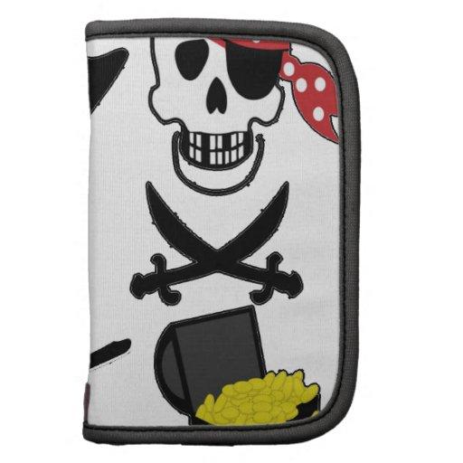 tesoro del cráneo del barco de mar del pirata organizador