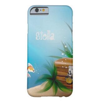 Tesoro del hallazgo del Goldfish en el océano Funda Para iPhone 6 Barely There