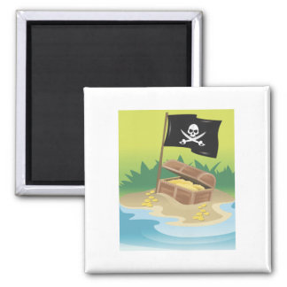 Tesoro del pirata imán de frigorífico
