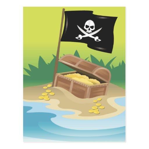 Tesoro del pirata postales