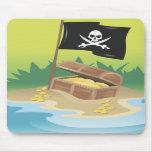 Tesoro del pirata tapete de ratones