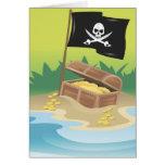 Tesoro del pirata tarjeta