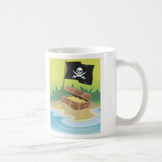 Tesoro del pirata taza de café