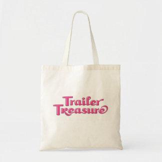 Tesoro del remolque - bolso rosado bolsa tela barata