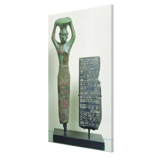 Tesoro del rey del Amar-Pecado de Ur, c.2040 A.C. Impresión En Lona Estirada