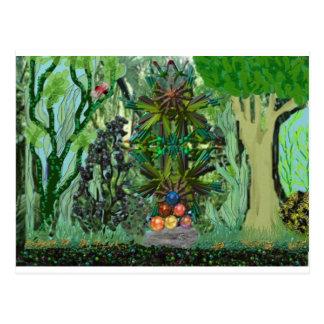 tesoro en la selva tarjeta postal