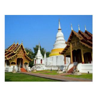 Tesoros asiáticos - templos en la postal de Tailan