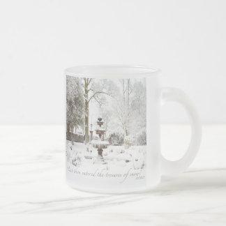 Tesoros de la taza personalizada nieve del vidrio