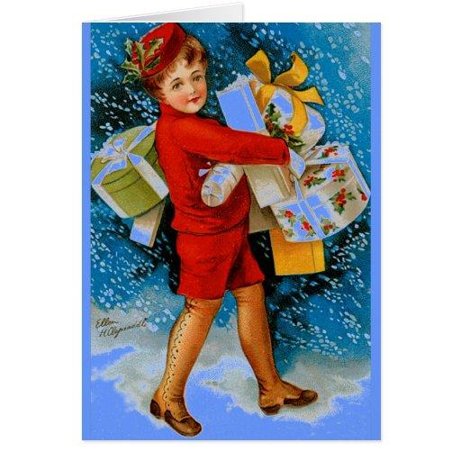 Tesoros del navidad tarjeta de felicitación