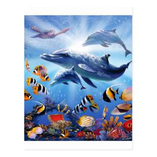 Tesoros del océano postales