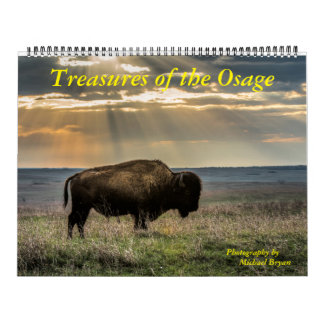 Tesoros del Osage - calendario de 12 meses