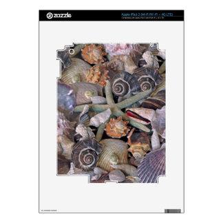 Tesoros del Seashell de las gemas del océano en Pegatina Skin Para iPad 3