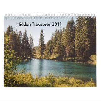 Tesoros ocultados 2011 calendarios de pared