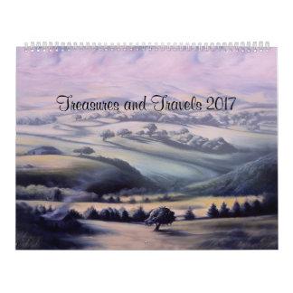 Tesoros y viajes 2017 calendarios de pared