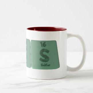 Tess as Tellurium Sulfur Sulfur Two-Tone Coffee Mug