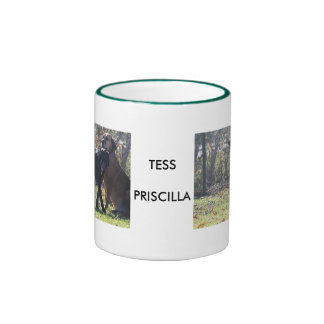 Tess - Black Labrador Priscilla Photo-1 Ringer Coffee Mug