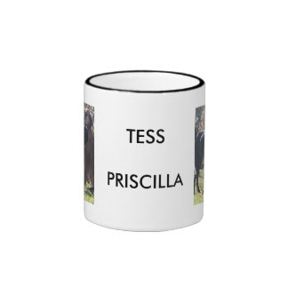 Tess - Labrador - Priscilla Photo-2 Ringer Coffee Mug