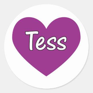 Tess Pegatina Redonda