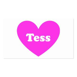 Tess Tarjeta De Visita