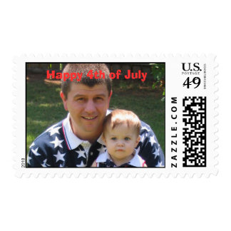 Tessa and Daddy, Happy 4th of July Postage