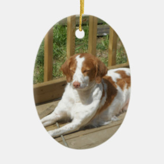 Tessa my little puppy ceramic ornament