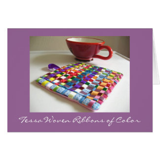 Tessa Woven Ribbons of Color Card