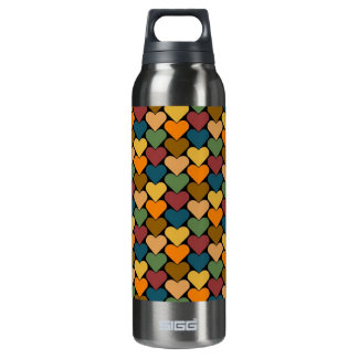 Tessellated Heart Pattern Design 16 Oz Insulated SIGG Thermos Water Bottle