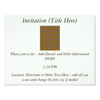 Tessellated Heart Pattern Design 4.25x5.5 Paper Invitation Card