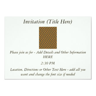 Tessellated Heart Pattern Design 4.5x6.25 Paper Invitation Card