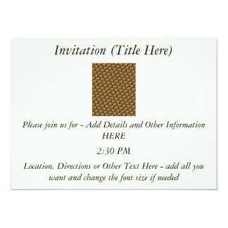 Tessellated Heart Pattern Design 5.5x7.5 Paper Invitation Card