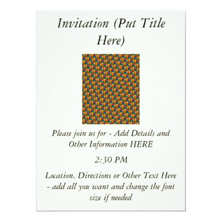 Tessellated Heart Pattern Design 6.5x8.75 Paper Invitation Card
