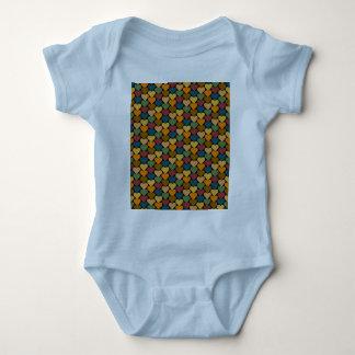 Tessellated Heart Pattern Design Baby Bodysuit
