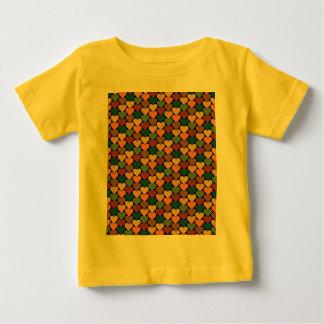 Tessellated Heart Pattern Design Baby T-Shirt