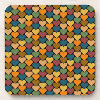 Tessellated Heart Pattern Design Beverage Coasters