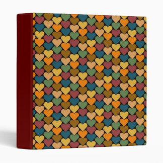 Tessellated Heart Pattern Design Binder