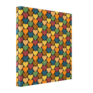 Tessellated Heart Pattern Design Gallery Wrap Canvas