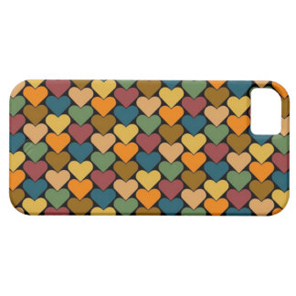 Tessellated Heart Pattern Design iPhone 5 Cases